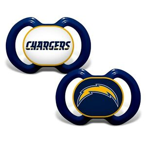 Los Angeles Chargers Baby Pacifier Set - Officially Licensed NFL BPA Free 2 Pack