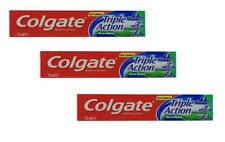 3X Colgate Triple Action Fluoride  Original Mint Toothpaste Kosher 75ml