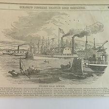 1850's Steamer Isaac Newton, VTG Etchings