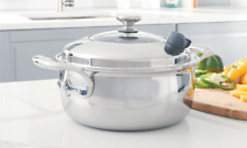 Princess House Vida Sana 5-ply Stainless Steel Cookware 5qt Casserole 5563