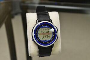 CASIO HOR-100W [1014] HOROSCOPE DIGITAL WATCH BLUE COSMO GRAPH VINTAGE JAPAN CGW