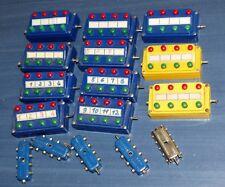 16 tlg Märklin Konvolut: 7072 Stellpult blau u gelb 7059 u 7209 Verteiler