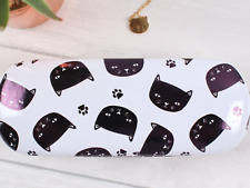 BLACK CAT PRINTED GLASSES CASE Hard case sunglasses spectacle present  gift