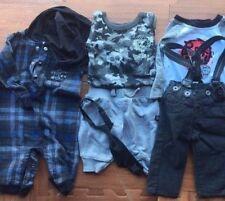 Baby Boy Clothes Lot Sz 3mo 6PC Bodysuit Hat Pants Tank Tops Pajama Overalls Tie
