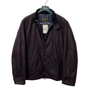 Barbour BARNBY Men's Red Maroon Burgundy Waxed Wax Harrington Jacket BNWT XL