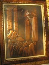 Moonio (Michael Mundel) Artist Hammered Tin Rabbi Holding Torah Synagogue