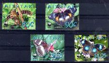 WWF PAPILLON Aitutaki 4 val de 2008 ** LUXE - BUTTERFLY SCHMETTERLING FARFALLA