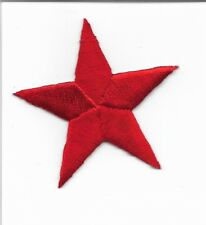 "Two  Red  2 1/4"" Stars Embroidered Iron On Patch Applique 150036"