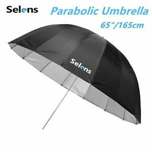"65"" 165cm Parabolic Deep Reflective Umbrella for Studio Flash Lighting w/ bag"