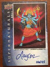 2016 UD Goodwin Champions Kali Artist Signatures Layron Dejarnette Auto /25 RARE