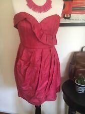 Fleur Wood Linen Silk Dress Pink Sz 10 Australian Made EUC