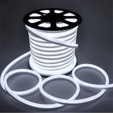 150ft White LED Neon Rope Light Strip Flex Tube for Room In/Outdoor Lighting New