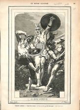 Opéra de Paris la Danse Guerrière Foyer de la Danse par Boulanger GRAVURE 1877