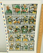 Brand New Complete 20 Card Uncut Sheet Of 2015 Green Bay Packers Team Police
