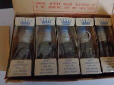 VINTAGE BLUE CROWN  SPARK PLUGS  BLUE CROWN   (BOX OF 10 PLUGS)