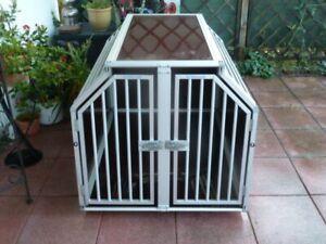 Cage de Transport pour Chien Double en Aluminium