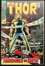 MIGHTY THOR #145 FN-- THOR EXILED TO EARTH,RINGMASTER + HOGUN THE GRIM BACKUP