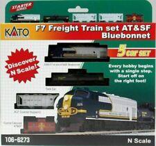 N KATO 106-6273 F7 ATSF Bluebonnet Loco Set #325 New
