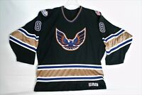 Phoenix Firebirds Minor League AAA Game  Player Worn Hockey Jersey sz M Dangle
