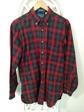 SIR Pendleton,Men,Size M Fine Worsted Wool,Plaid Flannel,Shirt,Made in USA