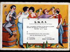 SYNDICAT NATIONAL DES POIVROTS DE FRANCE / PIN-UP & CAVE à VINS illustrée Humour
