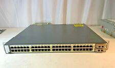 Cisco Ws-C3750E-48Pd-Ef 48 Port Gigabit Ethernet PoE Switch C3K-Pwr-1150Wac Kck