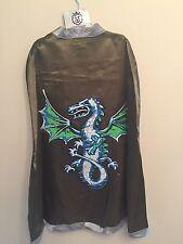 Kids Dragon Cape Green Knight Boys Fancy Dress Cape par Liontouch