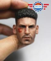 【IN STOCK】1/6 Punisher Head Sculpt Jon Bernthal BATTLE for 12'' Figure PHICEN