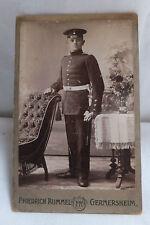 Militaria Cabinet Foto Soldat Uniform um 1900 Germersheim Rheinpfalz