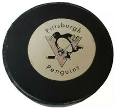 PITTSBURGH PENGUINS NHL OFFICIAL RAWLINGS HOCKEY PUCK RARE STAMPED MADE N CANADA