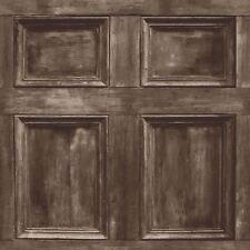 DISTINTIVO Di Legno Pannello Carta Da Parati-Marrone scuro-Fine Decor FD31055