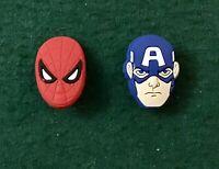 CROCS or JIBBITZ BRACELET CHARMS - 2PC  Set: Avengers FREE SHIPPING!