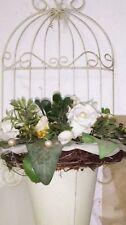 Cage à oiseaux Manique fleur supports muraux PORTE-SEAU Métal Maison de campagne