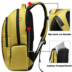 Men Laptop Backpacks Waterproof Nylon Backpack Unisex Women Notebook Bag 12-15.6