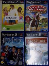 4 Playstation 2 Spiele, Singstar The Dome, Harry Potter, Jagdfieber, Lets Ride