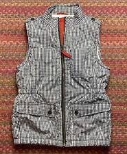 Gap Kids Xxl Gingham Plaid Sherpa Lined Puffer Vest
