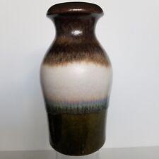 Scheurich Keramik W Germany Pottery Vase 208-21 Earthtones Browns Off White