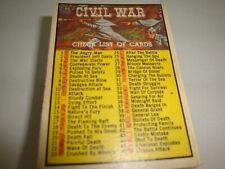 1962 Topps - Civil War News - lot of 71 tradingcards