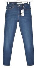 NEW Topshop Super Skinny LEIGH Mid Rise Blue Stretch Jeans Size 4 6 W24 L30