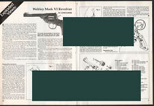 1990 WEBLEY Mark VI Revolver Exploded View~Parts List~2-pg Assembly Article