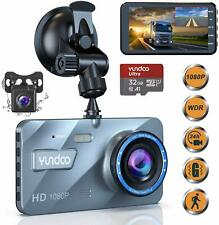 Dual Dash Cam Car Camera - Contain 32GB SD Card,Full HD 1080P Dash Camera for Ca