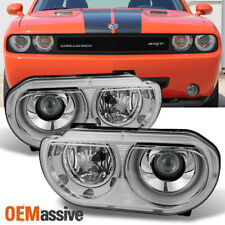 2008-2014 Dodge Challenger HID Xenon Type Projector Headlights Replacement Pair