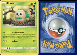 COK R@R@ POKEMON-ROWLET-17/236-HOLO-NEW-MINT-SET BASE ECLISSI COSMICA