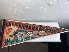 Vintage San Francisco 49ers NFC West Champs Pennant Excellent Condition
