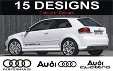 Audi A3 S3 A4 S4 A6 S6 A2 Quattro Aufkleber 2 aus Logo