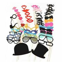 DIY Masks Photo Booth Props Mustache On A Stick Wedding Birthday Party Boothprop