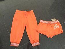 NWT Juicy Couture New & Gen. Orange Cotton Shorts & Pants Set Girls Age 8 & Logo