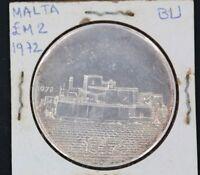 MALTA SILVER COIN 2 POUNDS, 1972