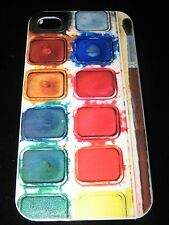 Water Color Paint Tray Cover Case for iPhone 4 4s New Purple Red Yellow Green