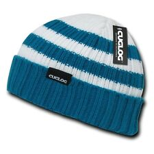 Blue & White Knit Warm Winter Skull Ski Sailor Cuff Beanie Beanies Cap Hat Hats